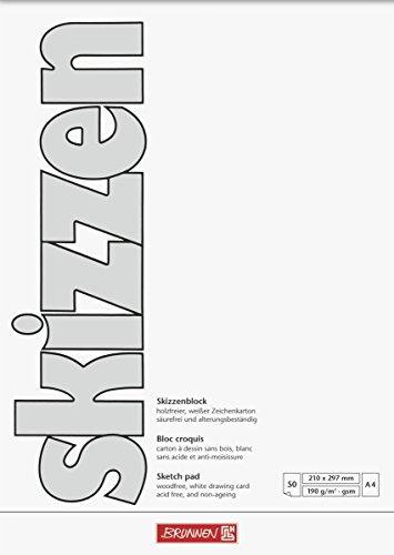 Brunnen Zeichenblock (A4, 190 g/m², 50 Blatt)