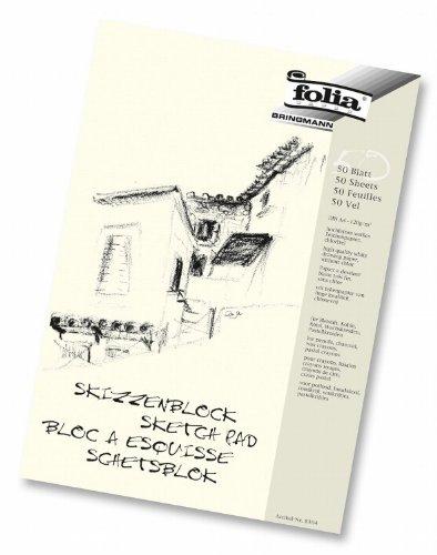 folia Skizzenblock, 120 g/m², DIN A4, 50 Blatt