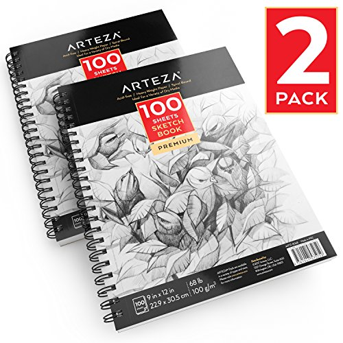 Arteza Sketchbook mit Spiralbindung 2er-Set