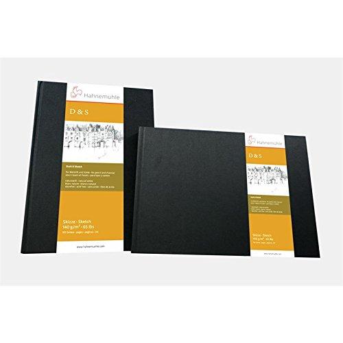 Skizzenbuch D&S schwarz 140g/m², DIN A4 quer