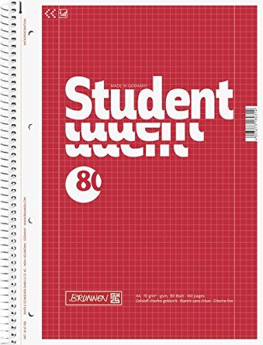 Brunnen Collegeblock Student, A4, kariert
