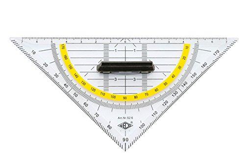 Wedo Geometrie Dreieck 16 cm, Kunststoff