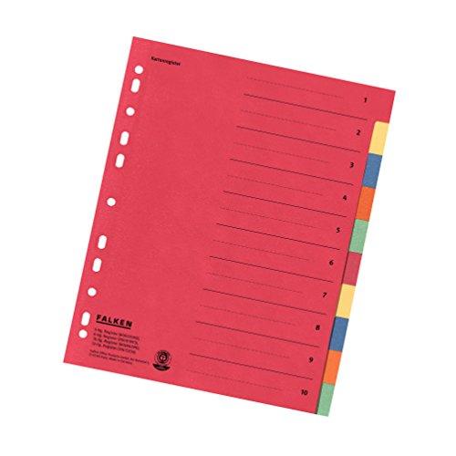 Falken Karton-Register für DIN A4 24 x 29,7 cm