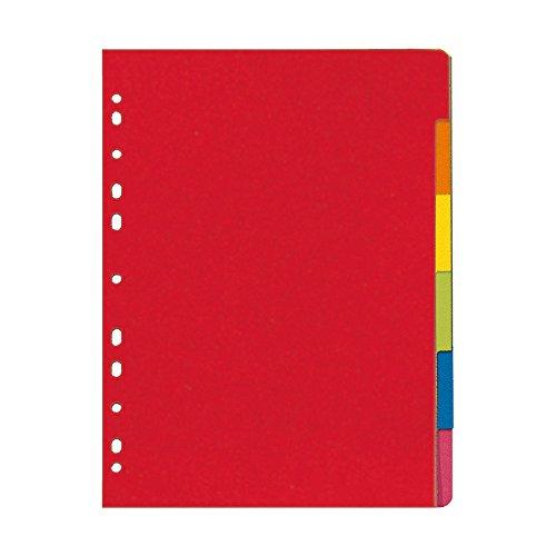 Herlitz Register 6-teilig, A4, farbintensiver Manilakarton