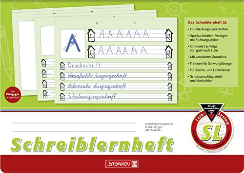 Brunnen Schreiblernheft SL (A4, quer, Lineatur SL, 16 Blatt)