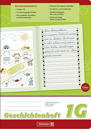 Brunnen Geschichtenheft Klasse 1 (A4, Lineatur 1G)