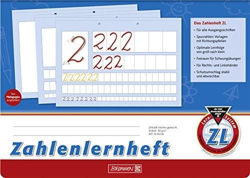Zahlenlernheft ZL, A4 quer, 16 Blatt - Brunnen