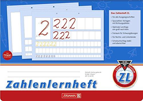 Zahlenlernheft Schulheft LINEATUR ZL (Din A4 - quer)