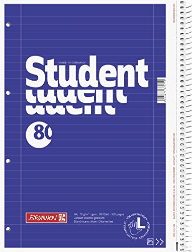 Brunnen Collegeblock Student für Linkshänder