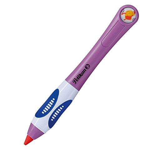 Pelikan griffix Wachsschreiber für Links-/Rechtshänder mit 3 Ersatz-Wachsschreibminen violett