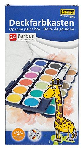 Idena Deckfarbkasten mit 24 Farben und 1 Tube Deckweiß