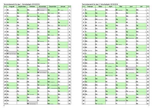 Lehrerkalender / Schuljahresplaner 2018/2019 der Große im Format A4 - 4