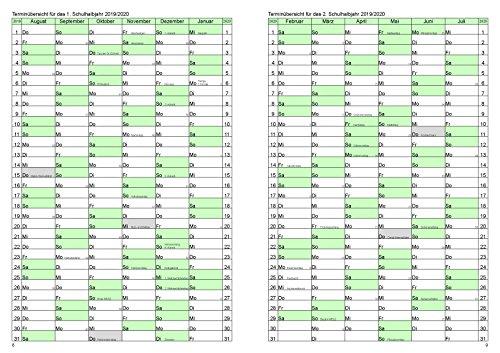 Lehrerkalender / Schuljahresplaner 2018/2019 der Große im Format A4 - 5