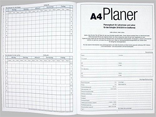 Flöttmann A4 Planer Kreativ - Kalender für Lehrerinnen und Lehrer 2018 - 2019 - Lehrerkalender creativ - Schulplaner - 3