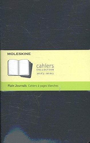 Moleskine Cahier Notizhefte, blanco, 3-er-Set schwarz