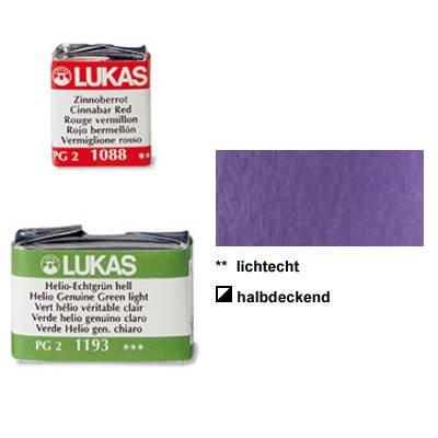 Lukas Feuchte Künstler-Aquarellfarbe 1862, 1/2 Näpfchen, Dioxazin Violett