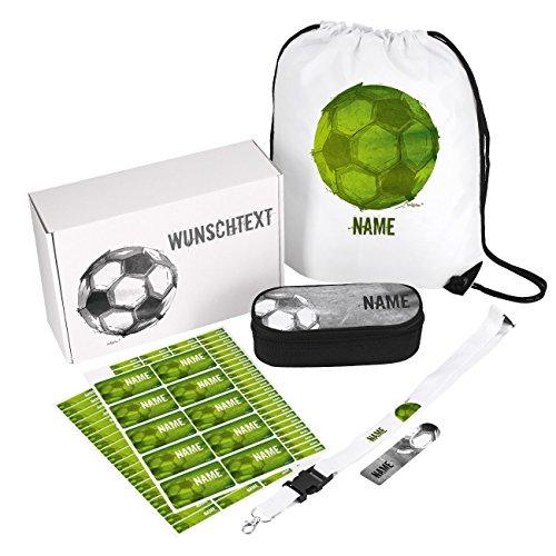 Einschulungsset Motiv Fußball in Geschenkbox