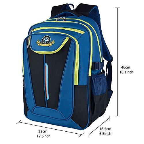 Schulrucksack, Coofit Kinderrucksack Daypack Schultasche Grundschule Backpack Schulranzen für Mädchen Jungen Teenager Jugendliche - 3