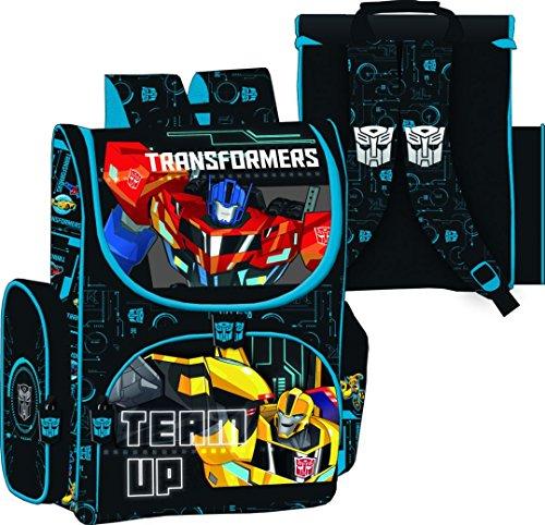 Familando Transformers Schulranzen Set 21tlg. mit Federmappe, Große Sporttasche und Schultüte 85cm PL - 2