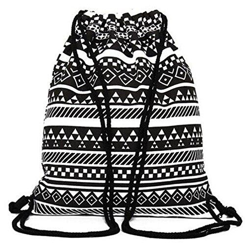 Alando Casual Canvas Schulrucksack Set+Schultertasche +Geldbeutel/Mäppchen Causal Rucksack Freizeitrucksack Daypacks Backpack für Mädchen Jungen & Kinder Jugendliche Damen Herren (Set+Beutel) - 2