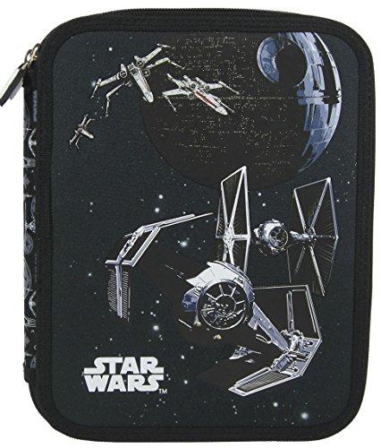 Familando Star Wars Schulranzen Set 17tlg. mit großer doppel Federmappe gefüllt 48-tlg., Regen-/Sicherheitshülle, Sporttasche, Schultüte 85cm, Dose und Trinkflasche schwarz - 6