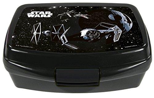 Familando Star Wars Schulranzen Set 17tlg. mit großer doppel Federmappe gefüllt 48-tlg., Regen-/Sicherheitshülle, Sporttasche, Schultüte 85cm, Dose und Trinkflasche schwarz - 8