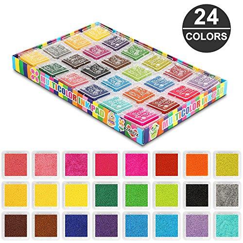 Topist 24 Farben Stempelkissen Set, wasserlöslich