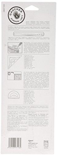 MAPED 897118 Geometrieset für Linkshänder, Lineal, Winkelmesser, Zeichendreieck -