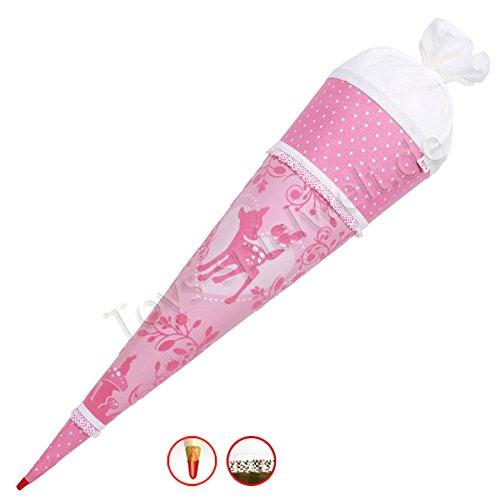 Roth Schultüte Soft Touch Pink Garden 70 cm