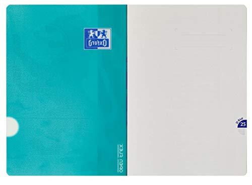 Oxford 400095631 Schulheft OpenFlex 10er Pack A4 32 Blatt Lineatur 25 - liniert mit weißem Rand koralle & aqua - 3