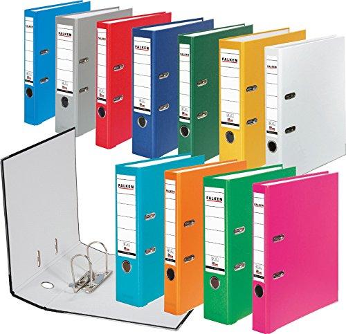 Falken PP-Color Kunststoff-Ordner 5 cm schmal DIN A4 weiß Ringordner Aktenordner Briefordner Büroordner Plastikordner Schlitzordner - 2