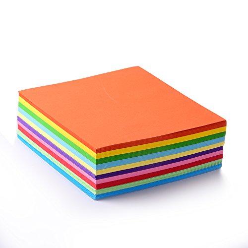 Faltpapier, 500 Blatt 15 x 15 cm, 70 g/qm 10 Farben