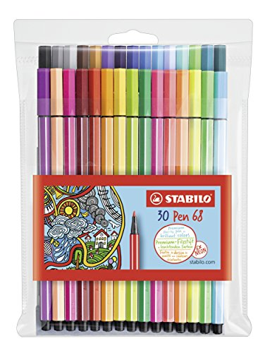 Premium-Filzstift - STABILO Pen 68-30er Pack