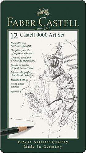 Faber-Castell - Bleistift Castell 9000, 12er Art Set