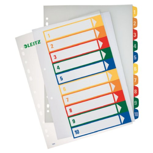 Leitz PC-beschriftbares Register (A4) mehrfarbig