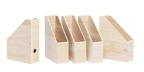 VBS 5er-Pack Stehsammler aus Holz