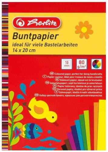 Herlitz Buntpapier 20x28cm 10 Blatt