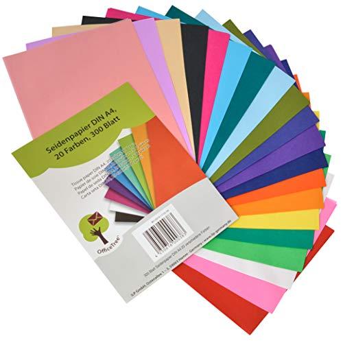OfficeTree® Seidenpapier 300 Blatt A4 - bunt
