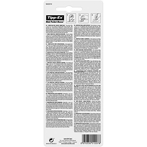 Tipp-Ex Mini Pocket Mouse Korrekturroller – Korrekturband 6 m x 5 mm – Blister à 2 Stück, weiß - 2
