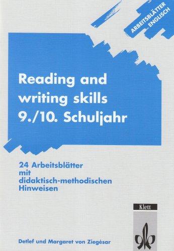 Arbeitsblätter Englisch: Reading and writing skills