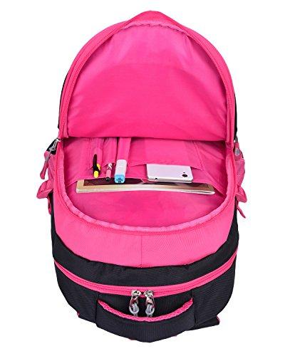 Schulrucksack Maedchen,COOFIT Mädchen Schulrucksack Rucksäcke Schulranzen Schultasche Tasche Travel Sport Outdoor Rucksack für Schüler (Coofit Design Rose) - 5