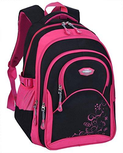 Schulrucksack Maedchen,COOFIT Mädchen Schulrucksack Rucksäcke Schulranzen Schultasche Tasche Travel Sport Outdoor Rucksack für Schüler (Coofit Design Rose) - 8