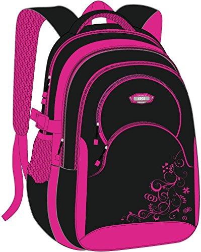 Schulrucksack Maedchen,COOFIT Mädchen Schulrucksack Rucksäcke Schulranzen Schultasche Tasche Travel Sport Outdoor Rucksack für Schüler (Coofit Design Rose) - 9