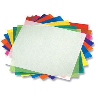 Faltblätter aus Transparentpapier, 10x10 cm, 500 Stück