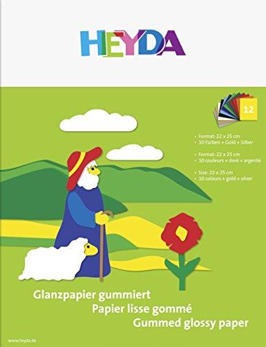 Heyda Glanzpapier-Heft (10 Farben+gold+silber)