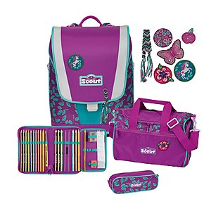 Scout Schulranzen Set Ultra 4tlg. LILAC LEAVES