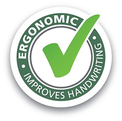 STABILO EASYergo 3.15 inkl. 1 dicke HB Mine & Spitzer - ergonomischer Druckbleistift für Linkshänder - Einzelstift hell-/dunkelblau -