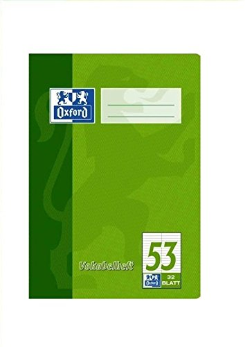 Oxford Vokabelheft, A5, zweispaltig, 90 g/qm, 32 Blatt
