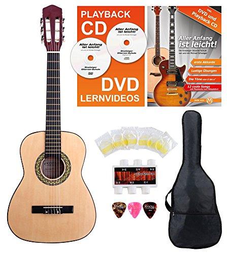 Klassikgitarre 1/2 für Linkshänder Starter-SET natur