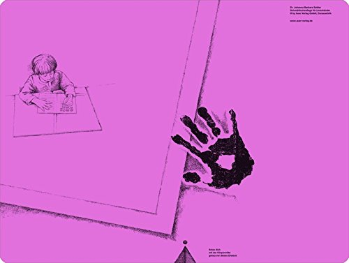 Schreibtischauflage für Linkshänder - Pink